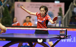 31.01.2016, Max Schmeling Halle, Berlin, GER, German Open 2016, im Bild Kasumi Ishikawa (JPN) bei der Ballannahme // during the table Tennis 2016 German Open at the Max Schmeling Halle in Berlin, Germany on 2016/01/31. EXPA Pictures © 2016, PhotoCredit: EXPA/ Eibner-Pressefoto/ Wuest<br /> <br /> *****ATTENTION - OUT of GER*****