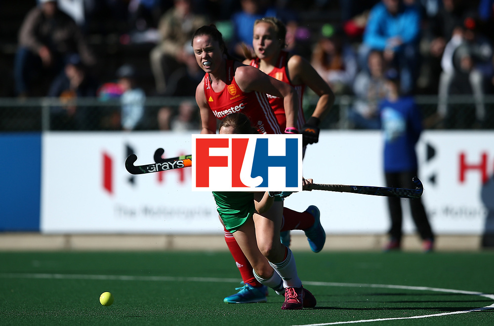 JOHANNESBURG, SOUTH AFRICA - JULY 16:  Kathryn Mullan of Ireland scores her goal during day 5 of the FIH Hockey World League Women's Semi Finals Pool A match between England and Ireland at Wits University on July 16, 2017 in Johannesburg, South Africa.  (Photo by Jan Kruger/Getty Images for FIH)