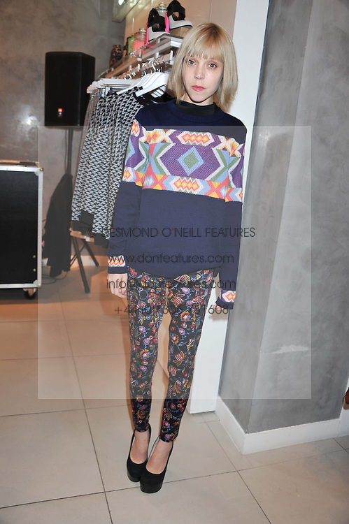 ANTONIA CAMPBELL-HUGHES at a party to celebrate the launch of Louise Gray's make-up and clothing collections for Topshop held at Topshop Edited, 286 Regent Street, London on 22nd August 2012.