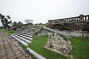 The Citadel. Kien Trung Palace. Canon with marble base.
