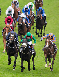 EPSOM- UK - 4th June-2016: Pat Sullen rides HAZAND owned by HH The Aga Khan to victory , wining the Derby at Epsom Races in Surrey<br /> <br /> Photo by Ian Jones