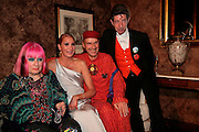 ZANDRA RHODES, ORLA O'ROURKE, ANDREW LOGAN, DUGGIE FIELDS.  Montblanc and Katherine Jenkins celebrate The launch of Montblanc's First Fine Jewellery Collectgion. V. & A. London. 24 April 2007.  -DO NOT ARCHIVE-© Copyright Photograph by Dafydd Jones. 248 Clapham Rd. London SW9 0PZ. Tel 0207 820 0771. www.dafjones.com.