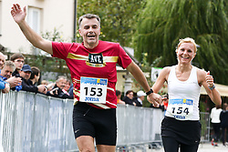 Svarun Udovic and Julija Tepes competes during 3. Konjiski maraton / 3rd Marathon of Slovenske Konjice, on September 27, 2015 in Slovenske Konjice, Slovenia. Photo by Urban Urbanc / Sportida