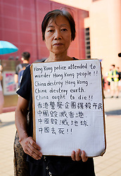 Tuen Mun, Hong Kong. 22 September 2019. Pro democracy demonstration and march through Tuen Mun in Hong Kong. Marchers protesting against harassment by sections of the pro Beijing community. Largely peaceful march had several violent incidents with police using teargas. Several arrests were made. Pictured;  Iain Masterton Live News.