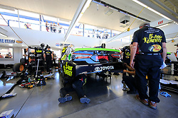 September 14, 2018 - Las Vegas, NV, U.S. - LAS VEGAS, NV - SEPTEMBER 14: The crew for Martin Truex Jr. (78) Barney Visser Furniture Row Racing Toyota Camry works on his car in the Neon Garage during practice for the South Point 400 Monster Energy NASCAR Cup Series Playoff Race on September 14, 2018 at Las Vegas Motor Speedway in Las Vegas, NV. (Photo by David Griffin/Icon Sportswire) (Credit Image: © David Griffin/Icon SMI via ZUMA Press)