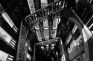 France. Paris.  the Sacre Coeur. / le Sacre coeur. a l'interieur du clocher, comme dans le films le nom de la rose. campanile