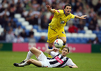 Photo: Rich Eaton.<br /> <br /> West Bromwich Albion v Leeds United. Coca Cola Championship. 30/09/2006. Jonathan Douglas #4 of Leeds is tackled by Zoltan Gera #11 of West Brom
