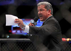Fairfax, VA - May 15, 2012: Bruce Buffer at UFC on FUEL TV 3 at the Patriot Center in Fairfax, Virginia.
