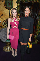 Left to right, ROSIE FORTESCUE and ROXIE NAFOUSI at the UK launch of WhoWhatWear UK held at Loulou's, Hertford Street, London on 24th November 2015.