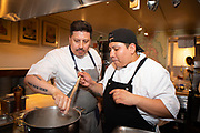 New York, NY - May 23, 2018: Chef Luis Jaramillo of Fifty presents Ecuador Meets NYC at The James Beard House in Greenwich Village. <br /> <br /> CREDIT: Clay Williams for The James Beard Foundation.<br /> <br /> &copy; Clay Williams / http://claywilliamsphoto.com