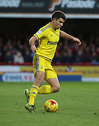 Nottingham Forest defender Eric Lichaj  setting up an arttack during the Sky Bet Championship match between Brentford and Nottingham Forest at Griffin Park, London, England on 21 November 2015. Photo by Matthew Redman.
