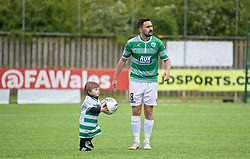 RHOSYMEDRE, WALES - Sunday, May 5, 2019: The New Saints' Ryan Brobbel and his son after the FAW JD Welsh Cup Final between Connah's Quay Nomads FC and The New Saints FC at The Rock. (Pic by David Rawcliffe/Propaganda)