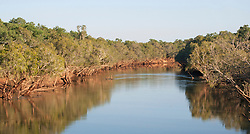 Reflections in the Fitzroy River at Willare