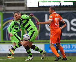 Braintree Town's Remy Clerima loses the ball to Forest Green Rovers's Jonathan Parkin - Photo mandatory by-line: Nizaam Jones - Mobile: 07966 386802 - 14/03/2015 - SPORT - Football - Nailsworth - The New Lawn - Forest Green Rovers v Braintree  - Vanarama Football Conference.
