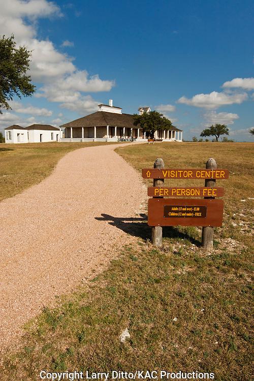 Fort McKavett, historic frontier landmark near Menard, Texas, USA