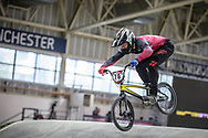 #76 (BABRIS Helvijs) LAT at Round 2 of the 2019 UCI BMX Supercross World Cup in Manchester, Great Britain