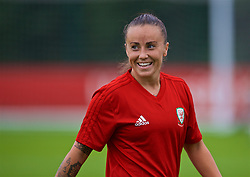 NEWPORT, WALES - Tuesday, August 28, 2018: Wales' Natasha Harding during a training session at Dragon Park ahead of the final FIFA Women's World Cup 2019 Qualifying Round Group 1 match against England. (Pic by David Rawcliffe/Propaganda)