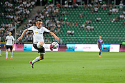 Legia's Miroslav Radovic controls the ball during Second qualifying round UEFA Champions League soccer match between Legia Warsaw and St. Patrick's Athletic at Pepsi Arena in Warsaw, Poland.<br /> <br /> Poland, Warsaw, July 16, 2014<br /> <br /> Picture also available in RAW (NEF) or TIFF format on special request.<br /> <br /> For editorial use only. Any commercial or promotional use requires permission.<br /> <br /> Mandatory credit:<br /> Photo by &copy; Adam Nurkiewicz / Mediasport