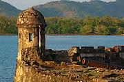 Battery of  Santiago (1760) Spanish fort at Portobelo Village, Colon Province,Panama,C.A.