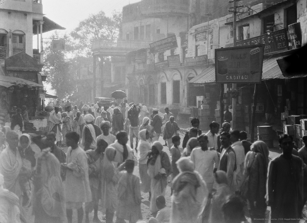 Street Scene, Benares, India, 1929