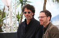Directors Joel Coen and Ethan Coen.at the Coen brother's new film 'Inside Llewyn Davis' photocall at the Cannes Film Festival Sunday 19th May 2013
