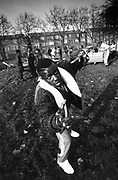 Overlord X and posse, South London, UK, 1987