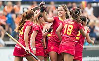 AMSTELVEEN -  Lola Riera (Spa) heeft gescoord tijdens de wedstrijd Spanje-Ierland (7-2) bij de Rabo EuroHockey Championships 2017.  COPYRIGHT KOEN SUYK