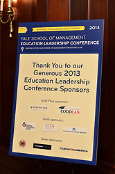 Yale SOM Education Leadership Conference Thursday Evening, 4 April.