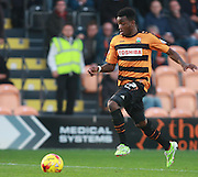 Barnet striker Josh Clarke races through to score his second goal during the Sky Bet League 2 match between Barnet and Exeter City at The Hive Stadium, London, England on 31 October 2015. Photo by Bennett Dean.