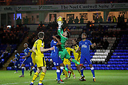 Oxford United's goalkeeper Simon Eastwood (1) catches this cross during the EFL Sky Bet League 1 match between Peterborough United and Oxford United at London Road, Peterborough, England on 8 December 2018.