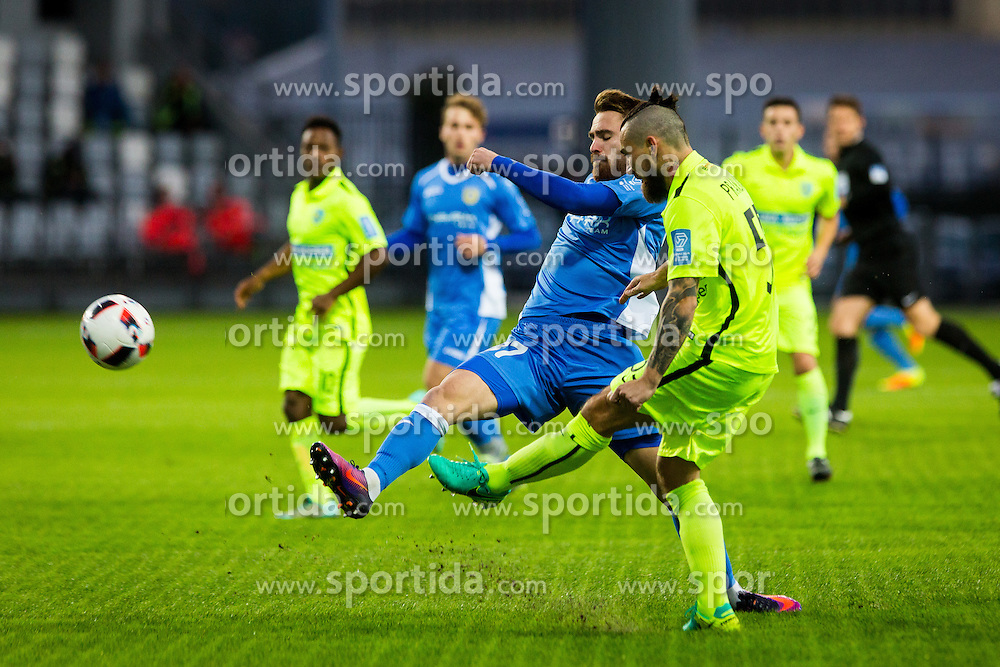Zan Majer of NK Domzale and Danijel Pranjic of FC Luka Koper during football match between FC Koper and NK Domzale in 14th Round of Prva liga Telekom Slovenije 2016/17, on October 22, 2016 on SRC Bonifika, Koper, Slovenia. Photo by Ziga Zupan / Sportida