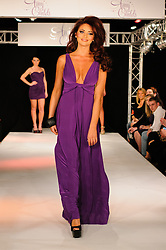 Amy Childs at her spring/summer 2012  clothing collection launch in London, Monday ,19th March 2012 . Photo by: i-Images