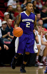 February 13, 2010; Stanford, CA, USA;  Washington Huskies guard Isaiah Thomas (2) during the first half against the Stanford Cardinal at Maples Pavilion. Washington defeated Stanford 78-61.