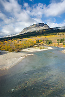 Autumn along the Saint Mary River, Glacier National park Montana USA