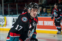 KELOWNA, CANADA - NOVEMBER 15: Rodney Southam #17 of the Kelowna Rockets warms up against the Prince George Cougars on November 15, 2016 at Prospera Place in Kelowna, British Columbia, Canada.  (Photo by Marissa Baecker/Shoot the Breeze)  *** Local Caption ***