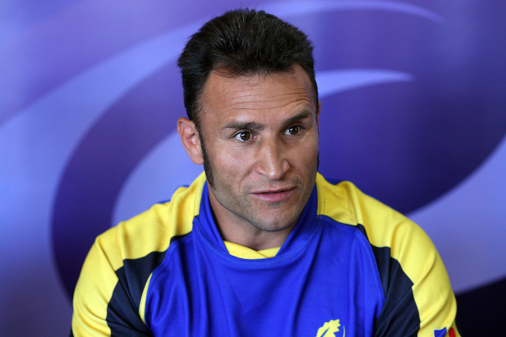 Romania's coach Romeo Gomtineac at their Rugby World Cup press conference, Ascot Hotel, Invercargill, New Zealand, Thursday, September 08, 2011. Credit:SNPA / Dianne Manson.