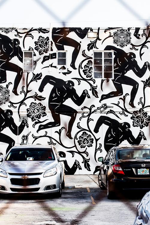 Mural by Shepard Fairey in Miami's Wynwood