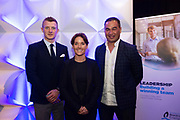 11/05/2017 Pictured at the Bord G&aacute;is Energy Leadership, Building a Winning Team, business conference at The Clayton Hotel, Galway were  Galway Senior Hurler and All-Star, Joe Canning,  with  Katie Walsh, one of the leading Irish amateur riders, Connacht Head Coach, Pat Lam, <br /> <br />  Lam, Canning and Walsh all took part in a panel discussion on Creating a winning culture and what it takes that inspired the almost 150 business attendees.  <br /> <br /> The line-up of expert speakers also included motivational expert Pat Divilly, Director of Executive Education at the Irish Management Institute, Dr Colm Foster and Stewart Dunne, partner at BDO. <br /> <br /> For further information please see http://www.bgebusinesshub.ie/event/leadership<br /> .   Photo:Andrew Downes, xposure