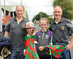Mayo supporters Padraig, Emer, Aine and Sean Gannon from Facefield Claremorris on their way to the Gaelic grounds.<br />