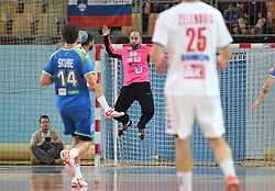 Urh Kastelic of Slovenia during friendly handball match between Slovenia and Srbija, on October 27th, 2019 in Športna dvorana Lukna, Maribor, Slovenia. Photo by Milos Vujinovic / Sportida