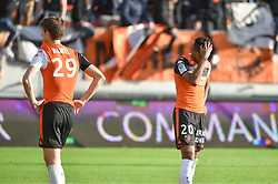 February 17, 2018 - France - Deception Hamel Pierre-Yves (FC Lorient) - Moreira Steven  (Credit Image: © Panoramic via ZUMA Press)