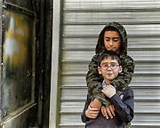 16/10/2013 - Turkey - Istanbul - Tarlabasi area - Two young Kurdish brothers.