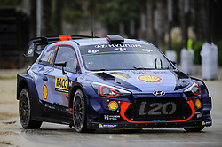 October 7, 2017 - Salou, Spain - The Belgian driver Thierry Neuville and his co-driver Nicolas Gilsoul of Hyundai Motorsport, driving his Hyundai i20 wrc car at Salou special stage during the second day of the Rally Racc Catalunya Costa Daurada, on October 7, 2017 in Salou, Spain. (Credit Image: © Joan Cros/NurPhoto via ZUMA Press)