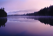 Morning mist, Stanford Lake, Adirondack park, NY