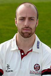 Somerset's Jack Leach - Photo mandatory by-line: Harry Trump/JMP - Mobile: 07966 386802 - 17/03/15 - SPORT - Cricket - Somerset Press Call - The County Ground, Taunton, England.
