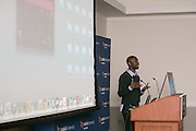 """This is Tanina Rostain and Felmi King at the """"Hackness to Justice 2014 Hackathon"""" session at the 2014 annual meeting of the American Bar Association in Boston at Suffolk University Law School.  photo by Kathy Anderson"""