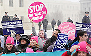 Scenes from Hobby Lobby rally at the US Supreme Court in Washington DC on March 25, 2014.
