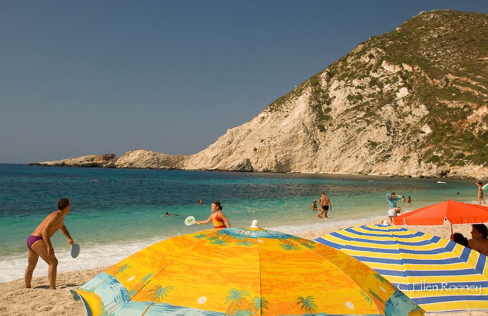 Petani Beach on the Lixourian Peninsula, Kefalonia, The Ionian Islands, Greece