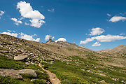 On the way to Adams Pass on the Bears Ears Trail, Shoshone National Forest, Wind River Range, Wyoming.