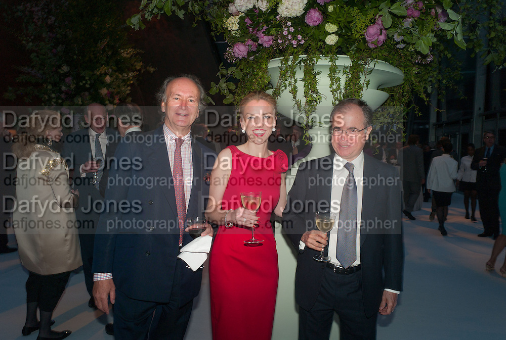 COUNT CHRISTOPHE GOLLUT; MR. AND MRS. MAXI GAINZA, CARTIER CHELSEA FLOWER SHOW DINNER Dinner hosted by Cartier in celebration of the Chelsea Flower Show was held at Battersea Power Station. 22 May 2012
